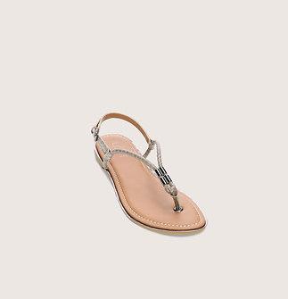 Metal Trim Thong Sandals
