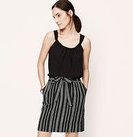 Chevron Stripe Tie Waist Skirt