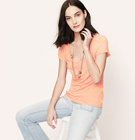 Petite Lace Inset Tee
