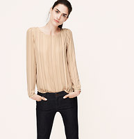 Stripe Pleated Blouse