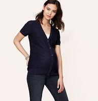 Petite Maternity Short Sleeve Cotton Cardigan