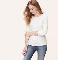 Lace Front Sweatshirt