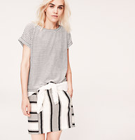 Lou & Grey Striped Hi-Lo Tee
