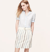 Striped Linen Cotton Skirt