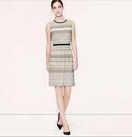 Geo Stripe Elastic Waist Dress