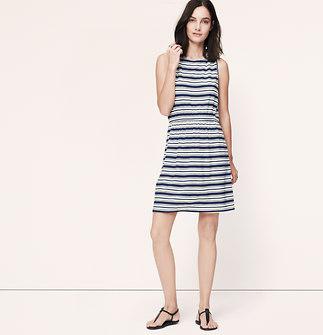 Variegated Stripe Tie Back Sleeveless Dress