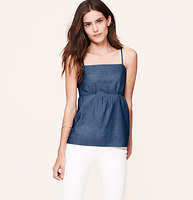 Chambray Empire Cami Top