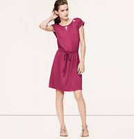 Cutout Tie Waist Dress