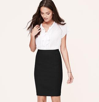 Curvy Fit Scuba Pencil Skirt