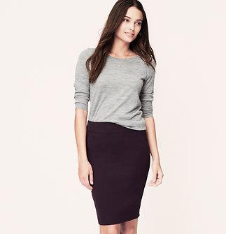 Curvy Fit Custom Stretch Pencil Skirt