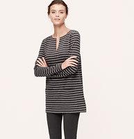 Striped Split Neck Tunic