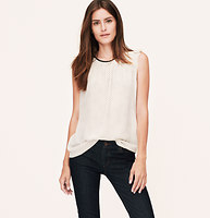 Dot Pleated Shoulder Shell