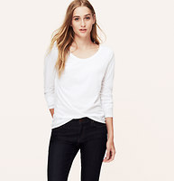 Petite Scoop Neck Long Sleeve Tee