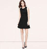 Faux Leather Trim Quilted Dress