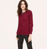 Jeweled Ribbed Sweater