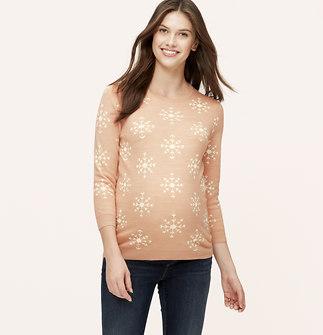 Maternity Snowflake Jacquard Sweater