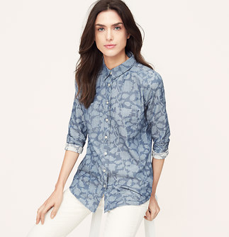 Shadow Floral Softened Shirt