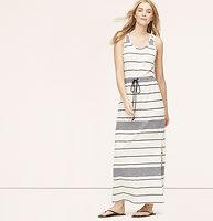 LOFT Beach Striped Racerback Maxi Dress