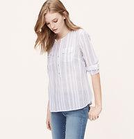 Striped Gauze Softened Shirt