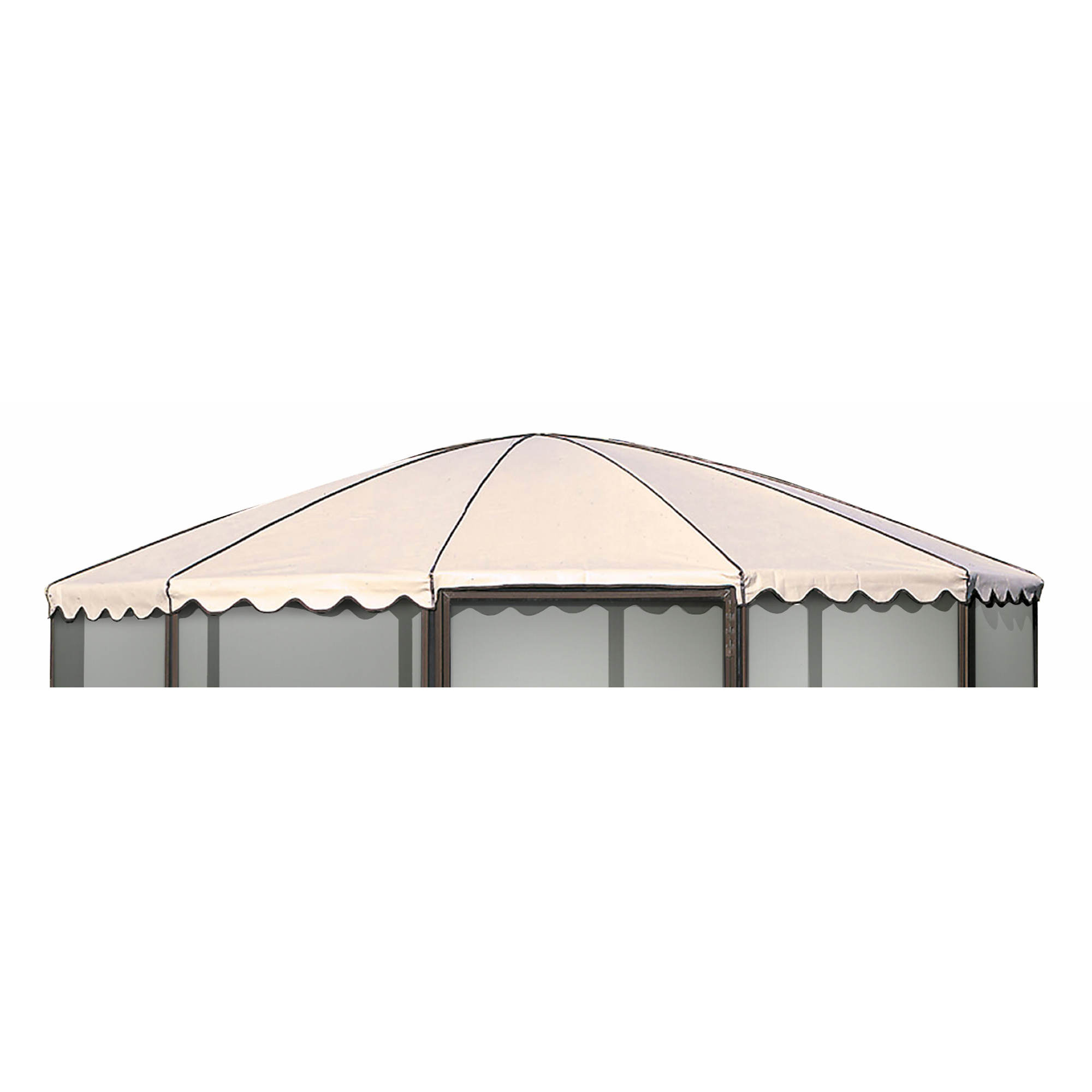 "Replacement Roof for Casita 14'9"" Complete Round Screenhouse, Model 23165 - Almond"