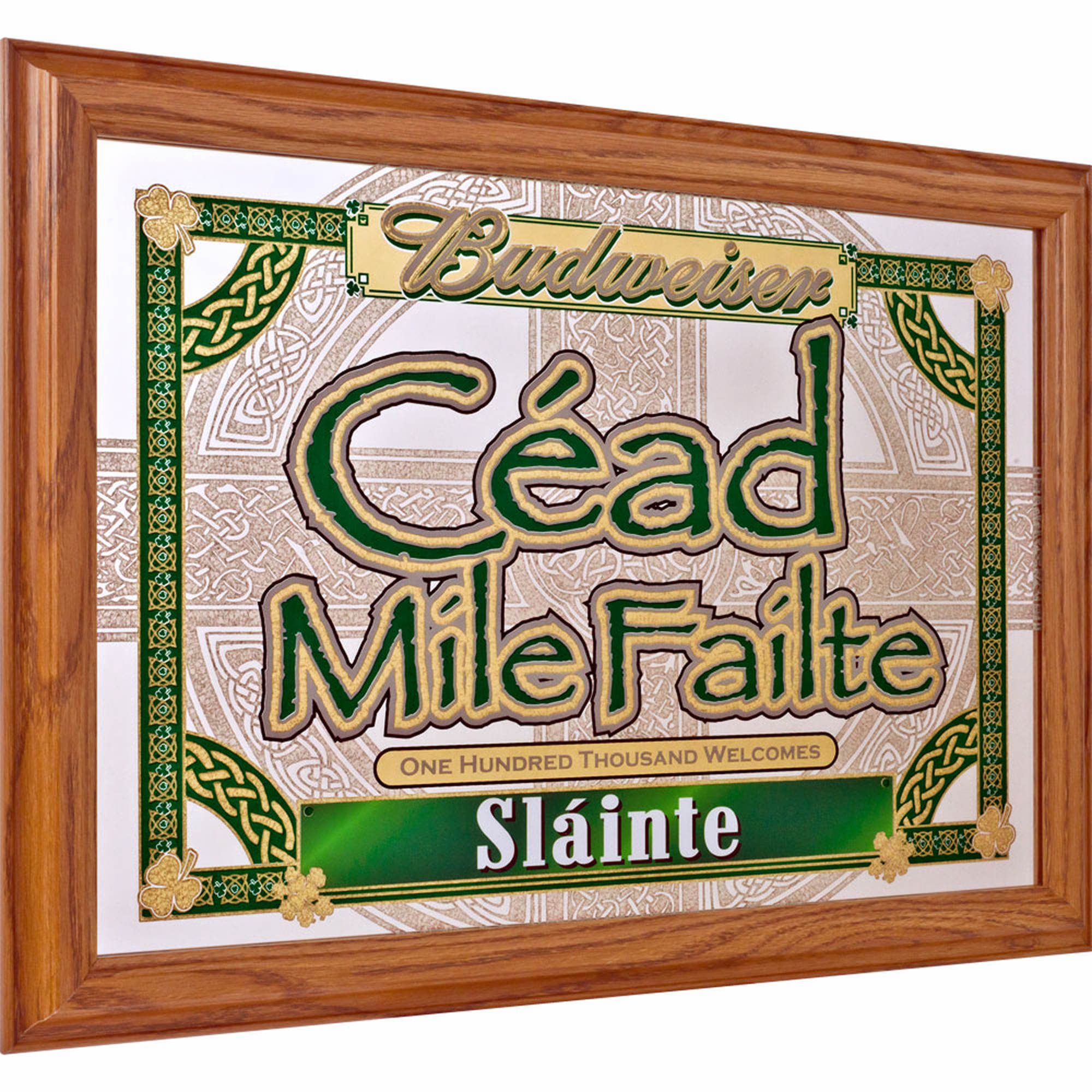 Cead Mile Failte Budweiser Slainte Mirror