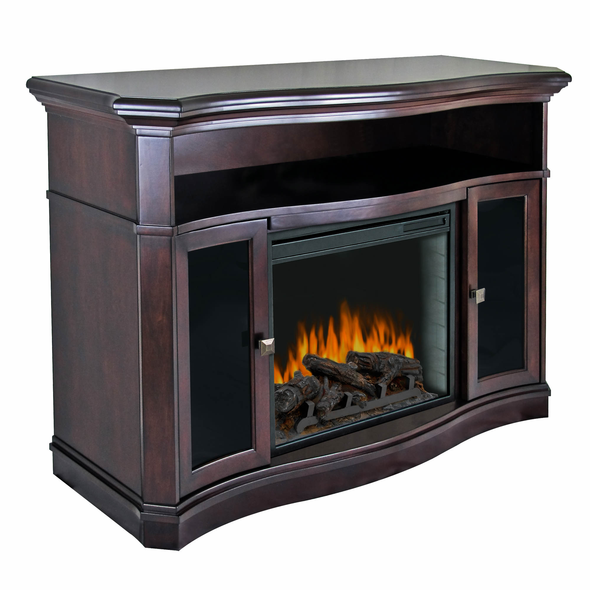 Pleasant Hearth Wheaton Ventless Electric Fireplace and Media Center - Merlot