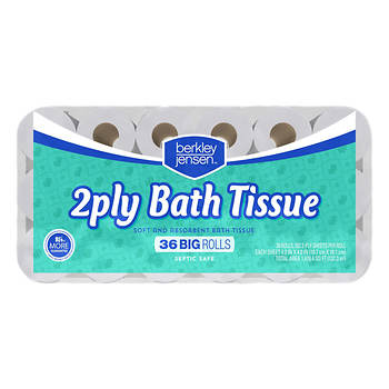Berkley Jensen Big Roll 2-Ply Premium Bath Tissue, 352 Sheets per Roll, 36 Rolls per Carton - White