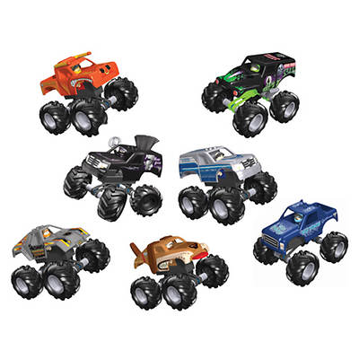 K'NEX Monster Jam Grave Digger, Mohawk Warrior, Afterburner, Max Destruct, Blue Thunder, Monster Mutt, El Toro Loco
