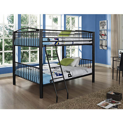Powell Heavy Metal Full-Size Bunk Bed - Black