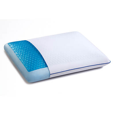 Sleep Innovations Standard-Size Reversible Gel-Infused Memory Foam Pillow with CoolGel HD