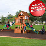 Adventure Playsets Scout Swing Set with Bonus 2-Person Glider