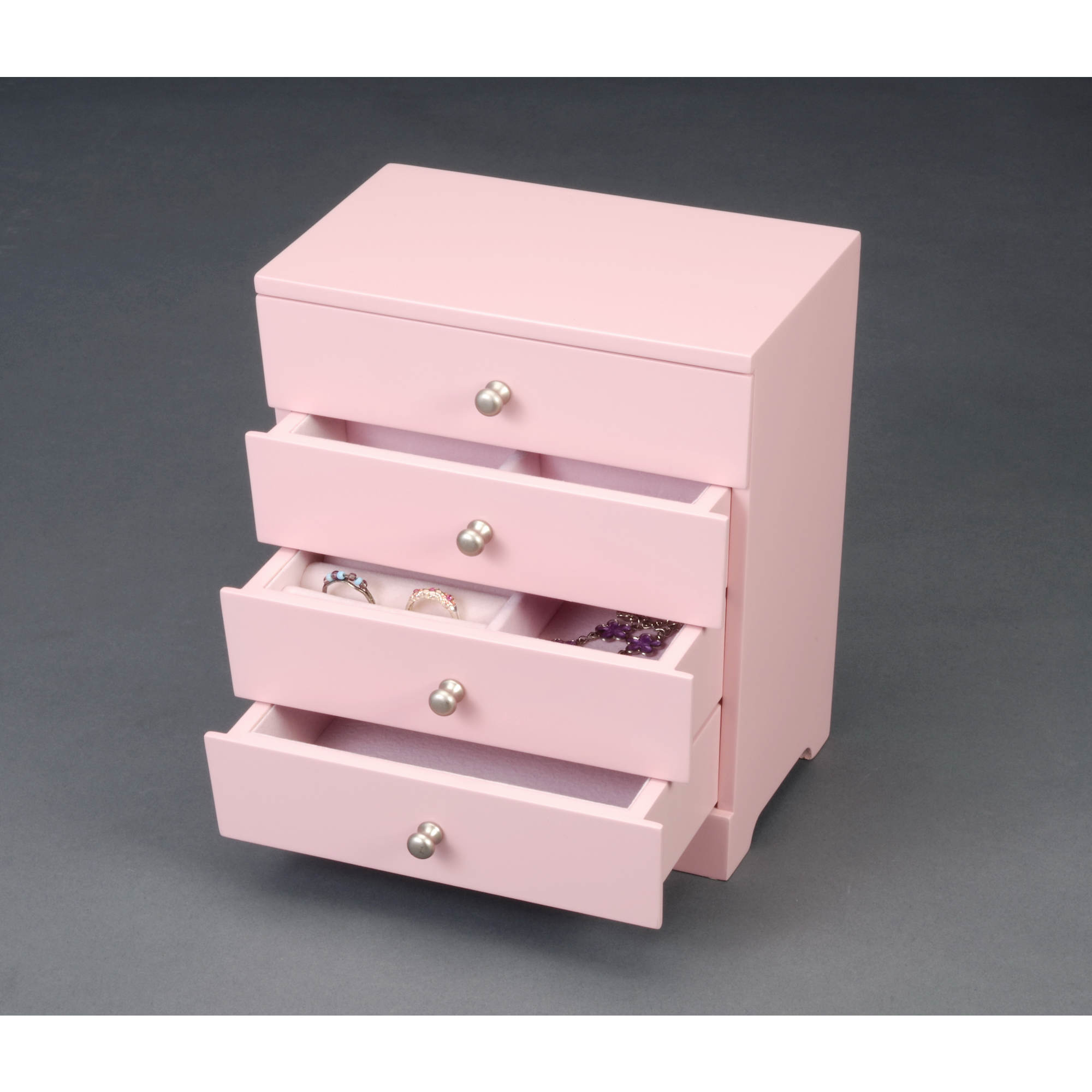 HomePointe Teen Wooden Jewelry Box - Pink