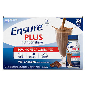 Ensure Plus Chocolate Shake, 8 Fl.Oz., 24-Pk