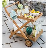 Monterey Teak Service Cart
