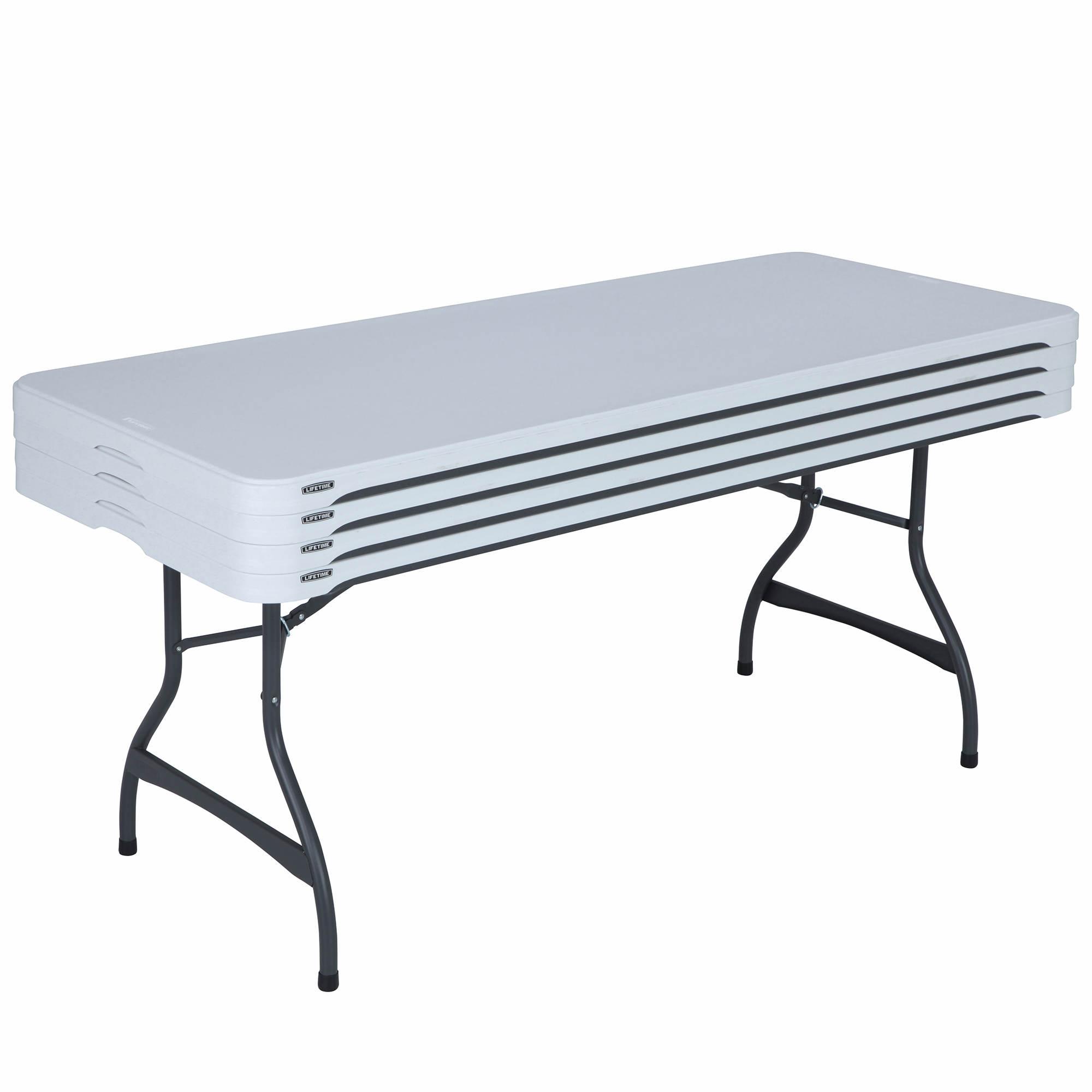 Lifetime 6' Commercial Folding Table, 4pk. - White