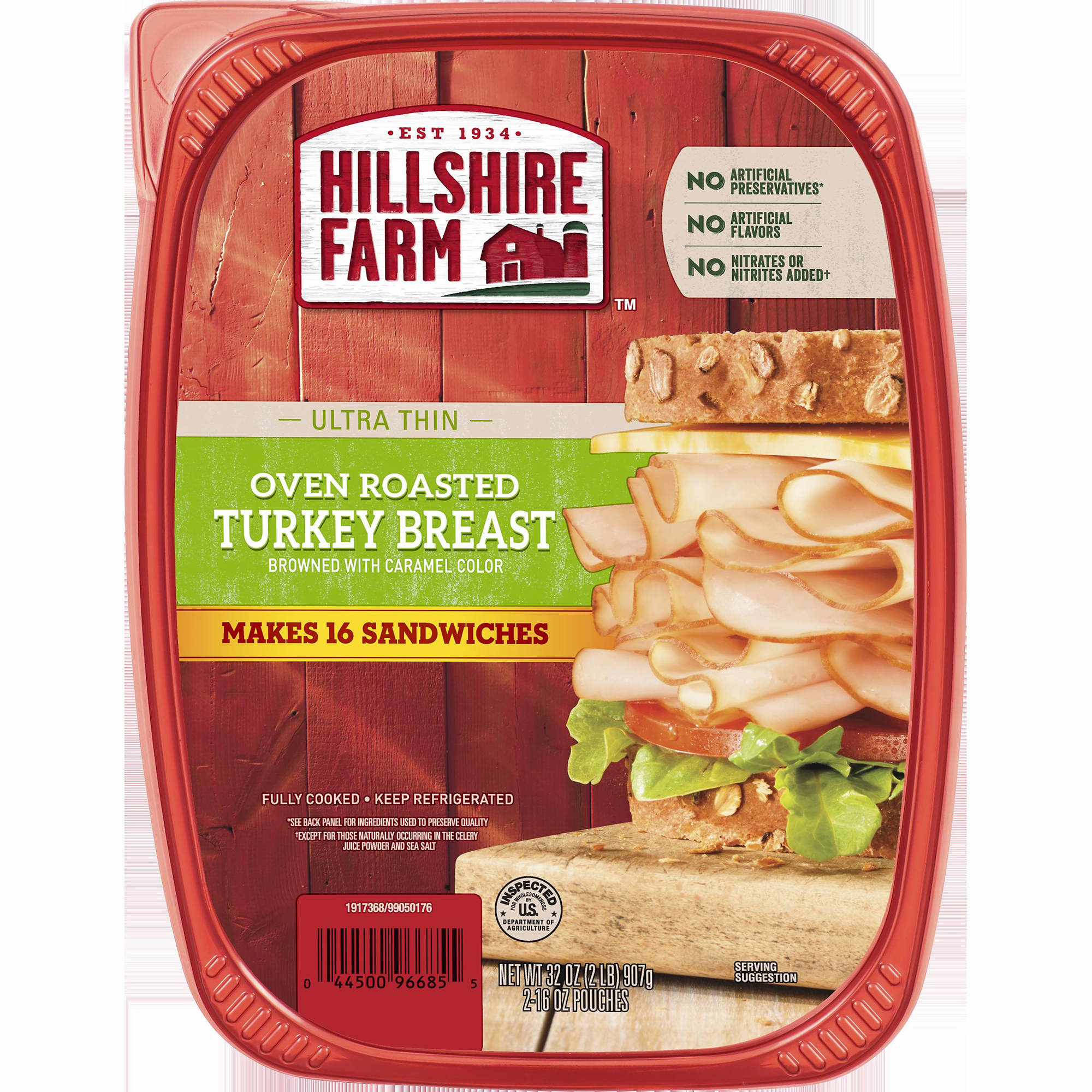 Hillshire Farm Oven Roasted Turkey Ultra Thin Lunch Meat, 32 oz., 2 pk.