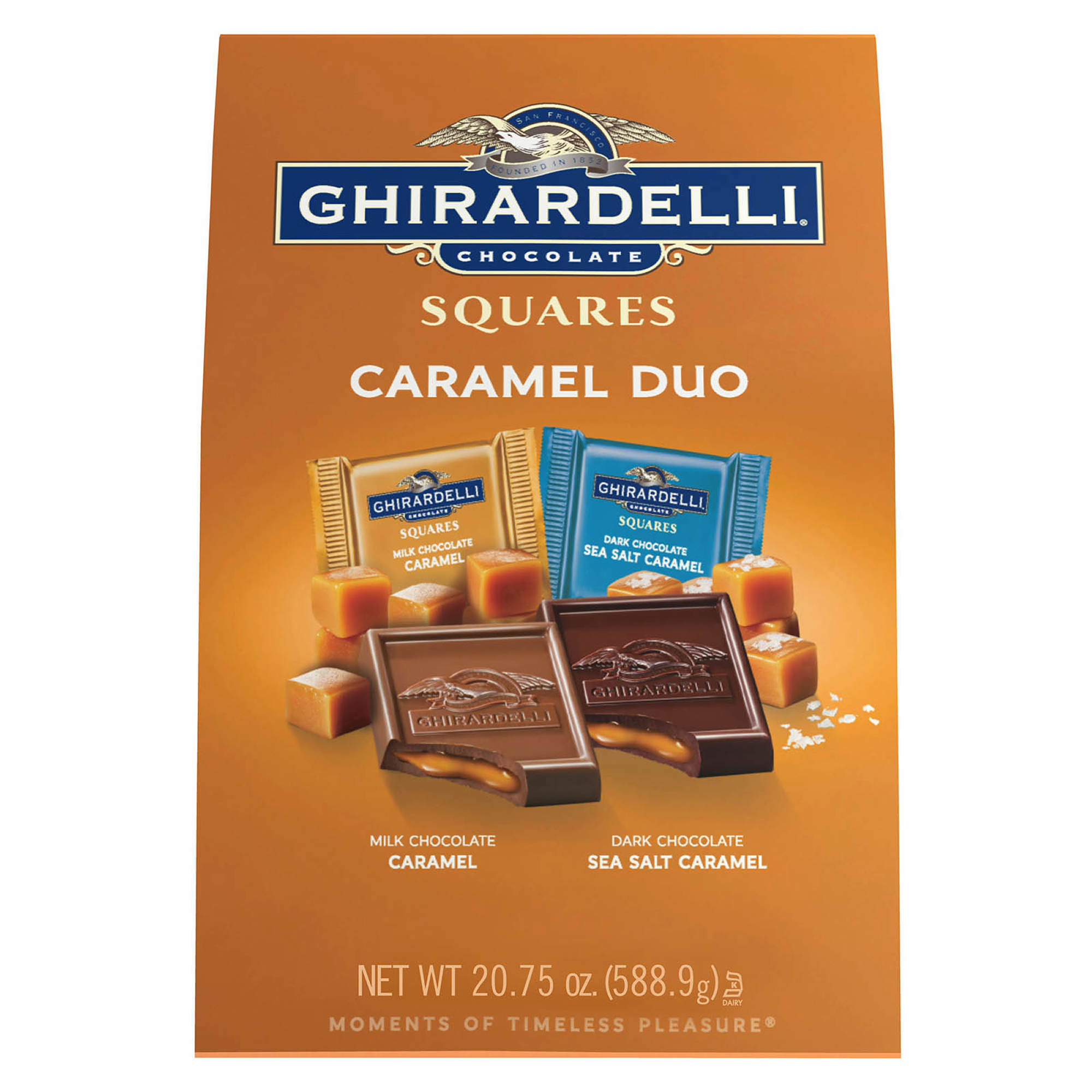 Ghirardelli Milk & Caramel Chocolate Squares, 27.5 oz.
