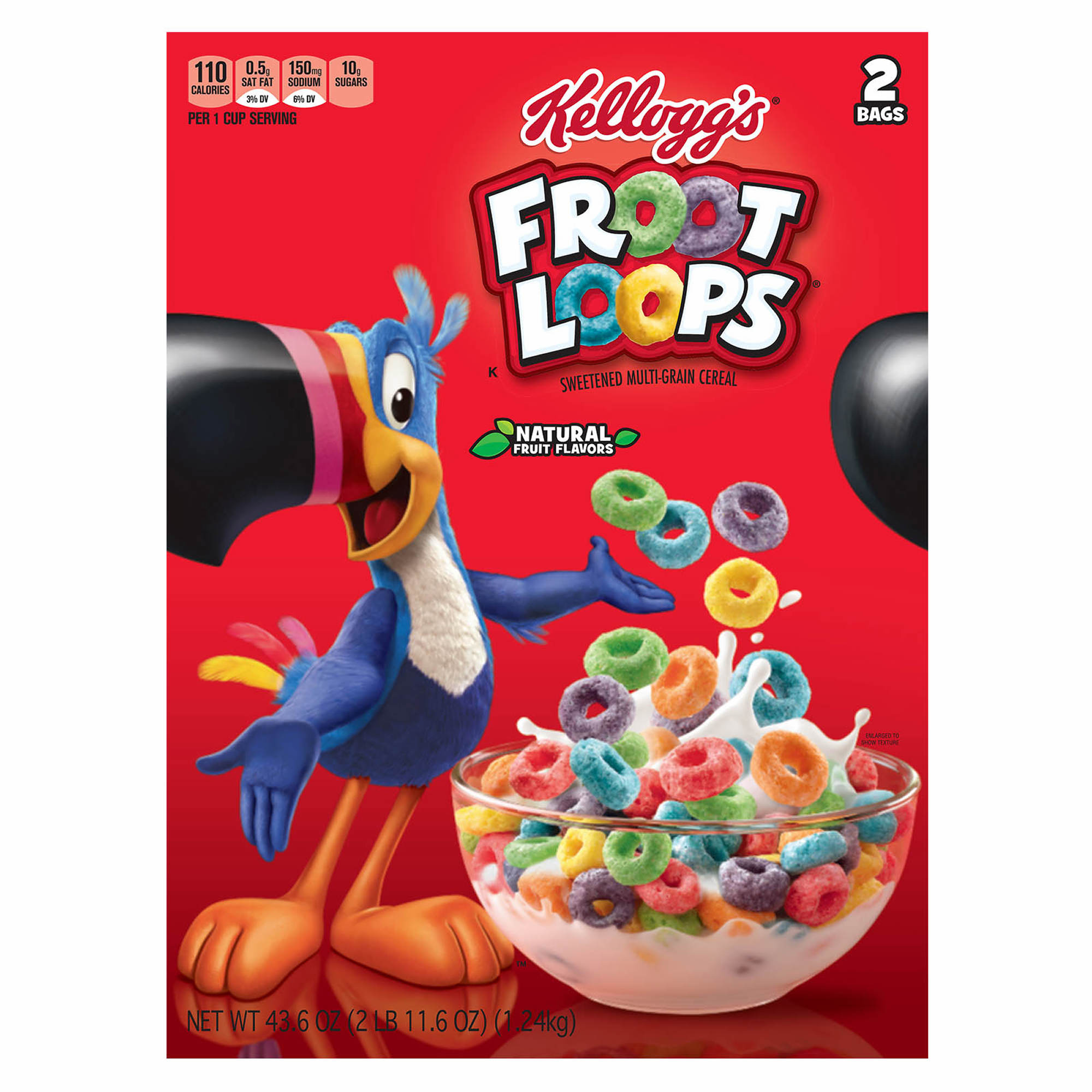fruit loops Froot loops is a brand of sweetened, fruit-flavored breakfast cereal produced by kellogg's and sold in many countries the cereal pieces are ring-shaped (hence loops) and come in a variety of bright colors and a blend of fruit flavors (hence froot, a cacography of fruit).