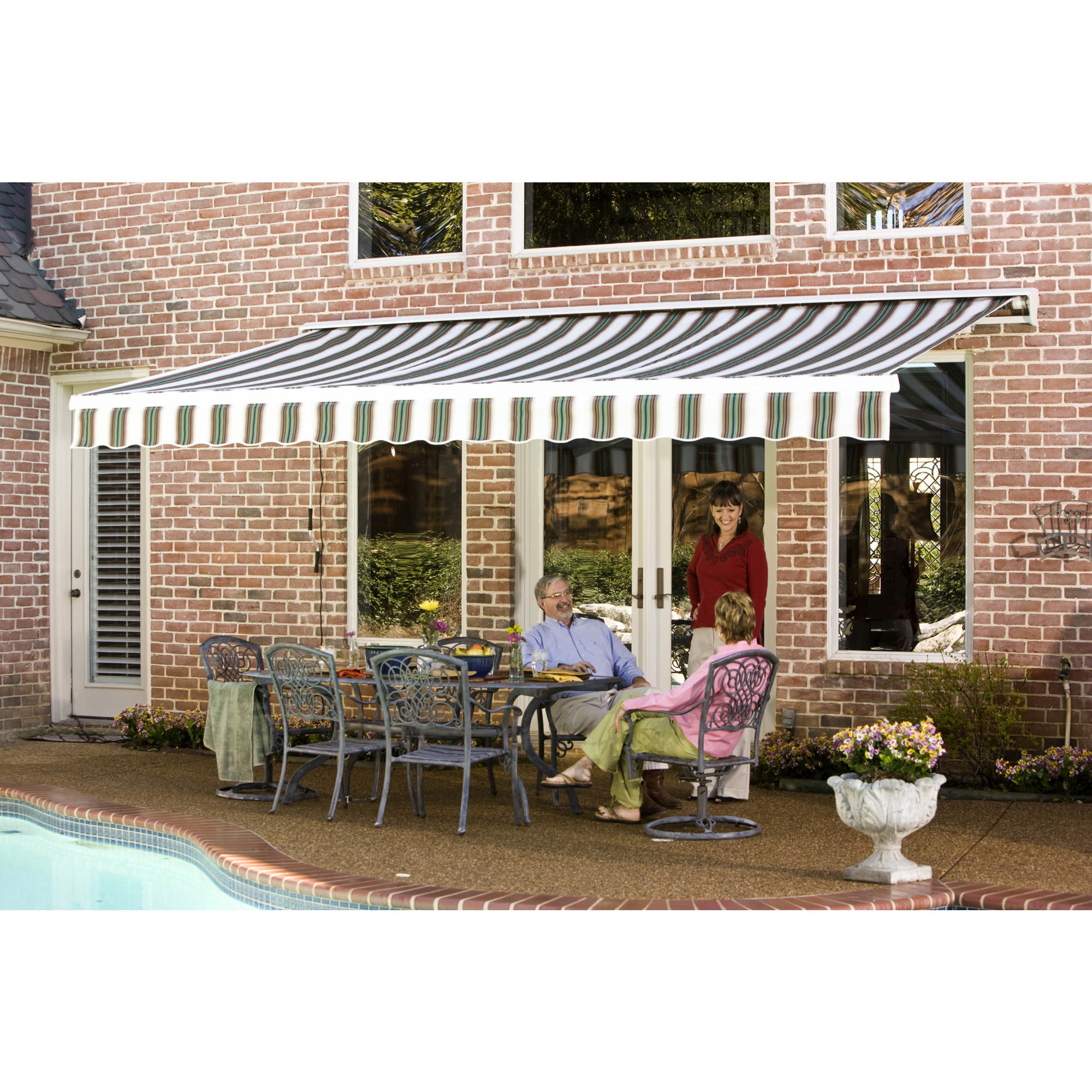 "Awntech Beauty-Mark 14' Destin Retractable Awning with 122"" Projection"