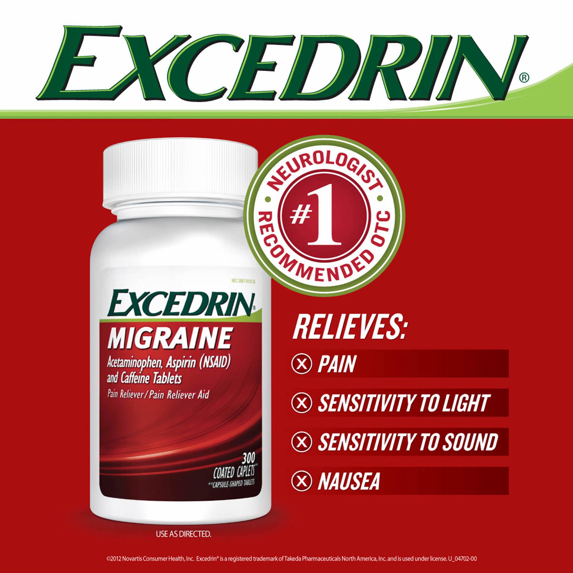 Excedrin Migraine Caplets, 300 Count
