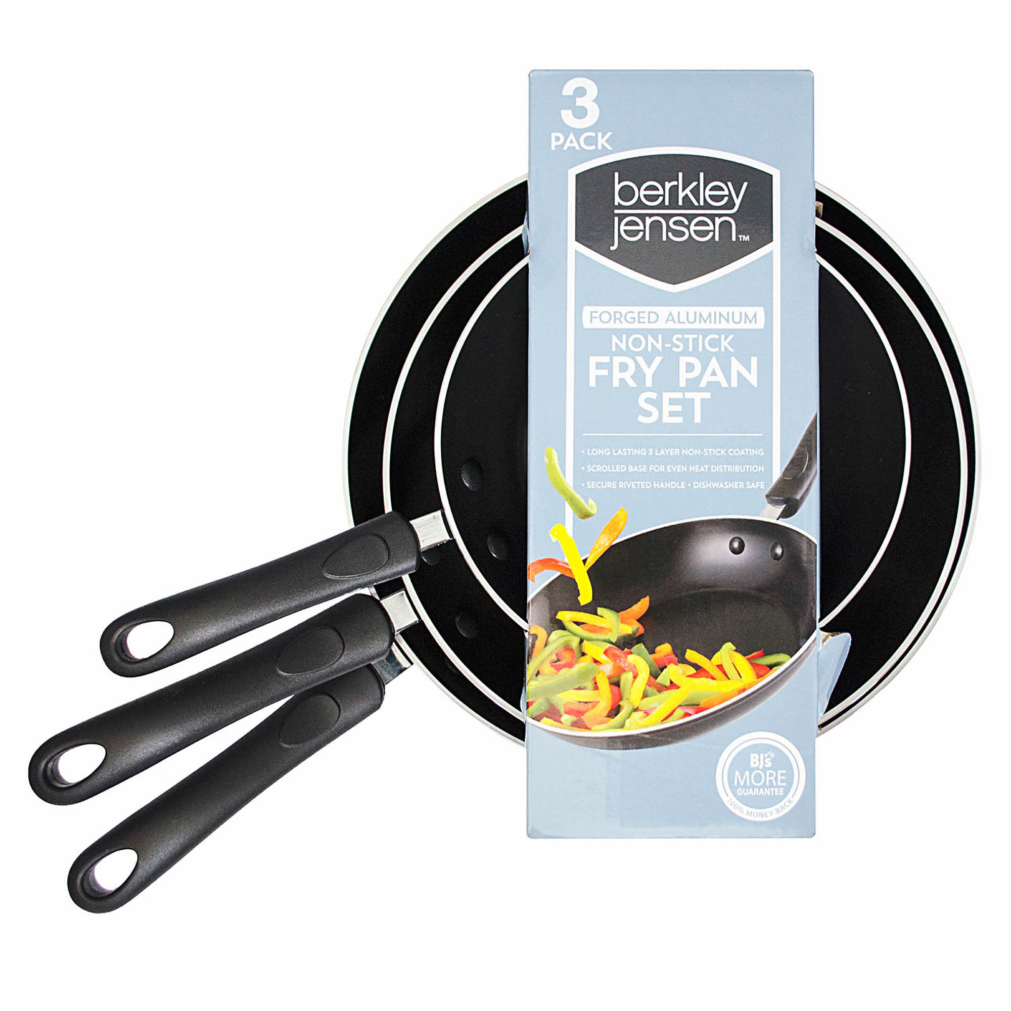 Berkley Jensen 3-Pc. Aluminum Fry Pan Set