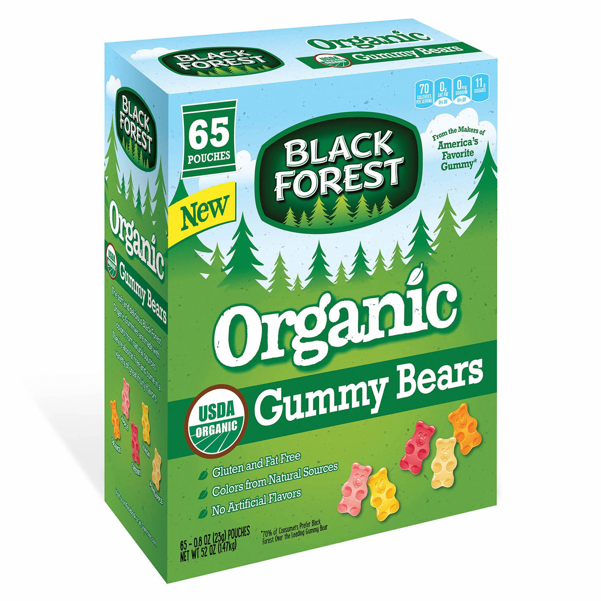 Black Forest Organic Gummy Bears, 65 pk.