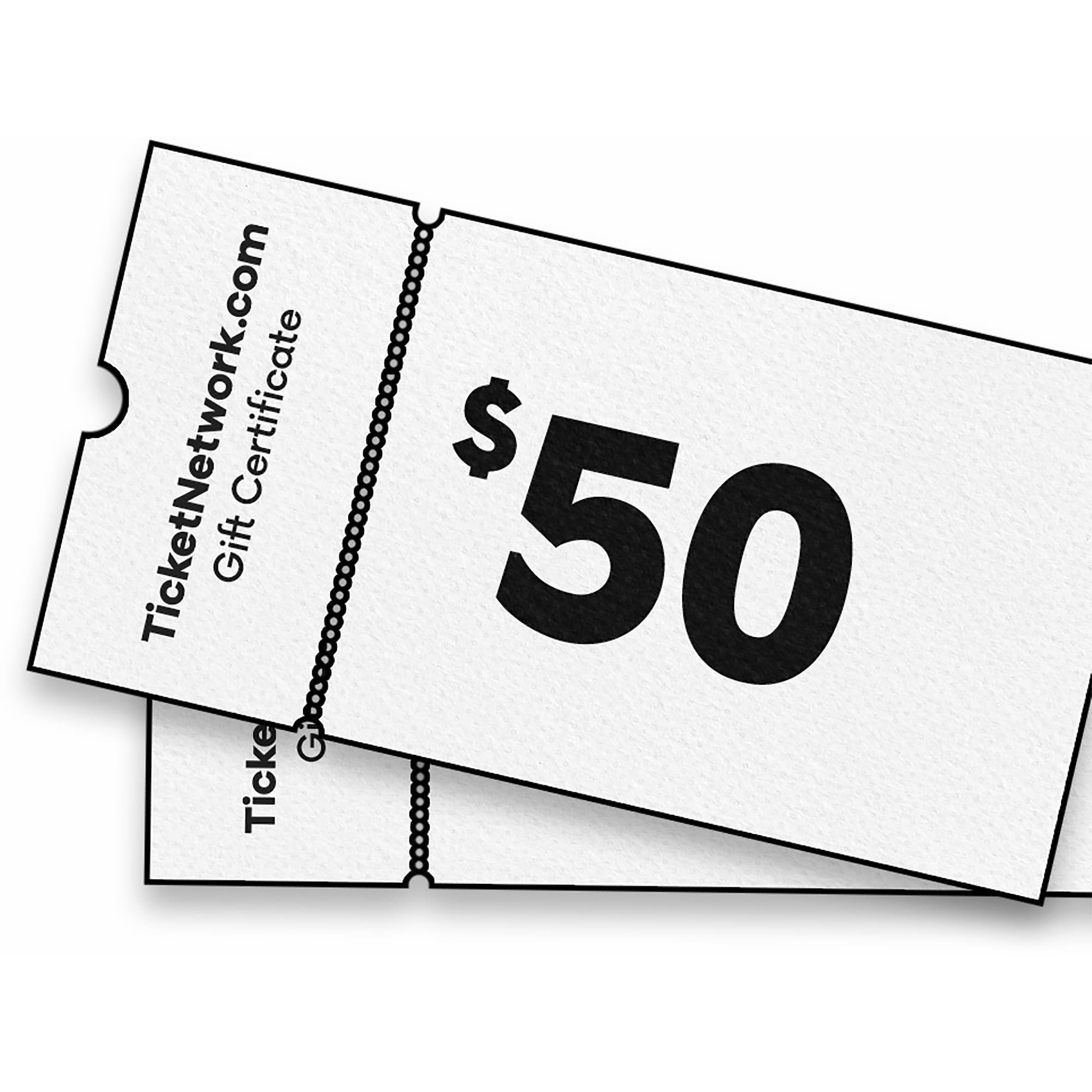$50 TicketNetwork Gift Certificates, 2 pk.