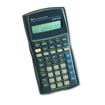 Texas Instruments BAII Plus Financial Calculator, 10-Digit LCD