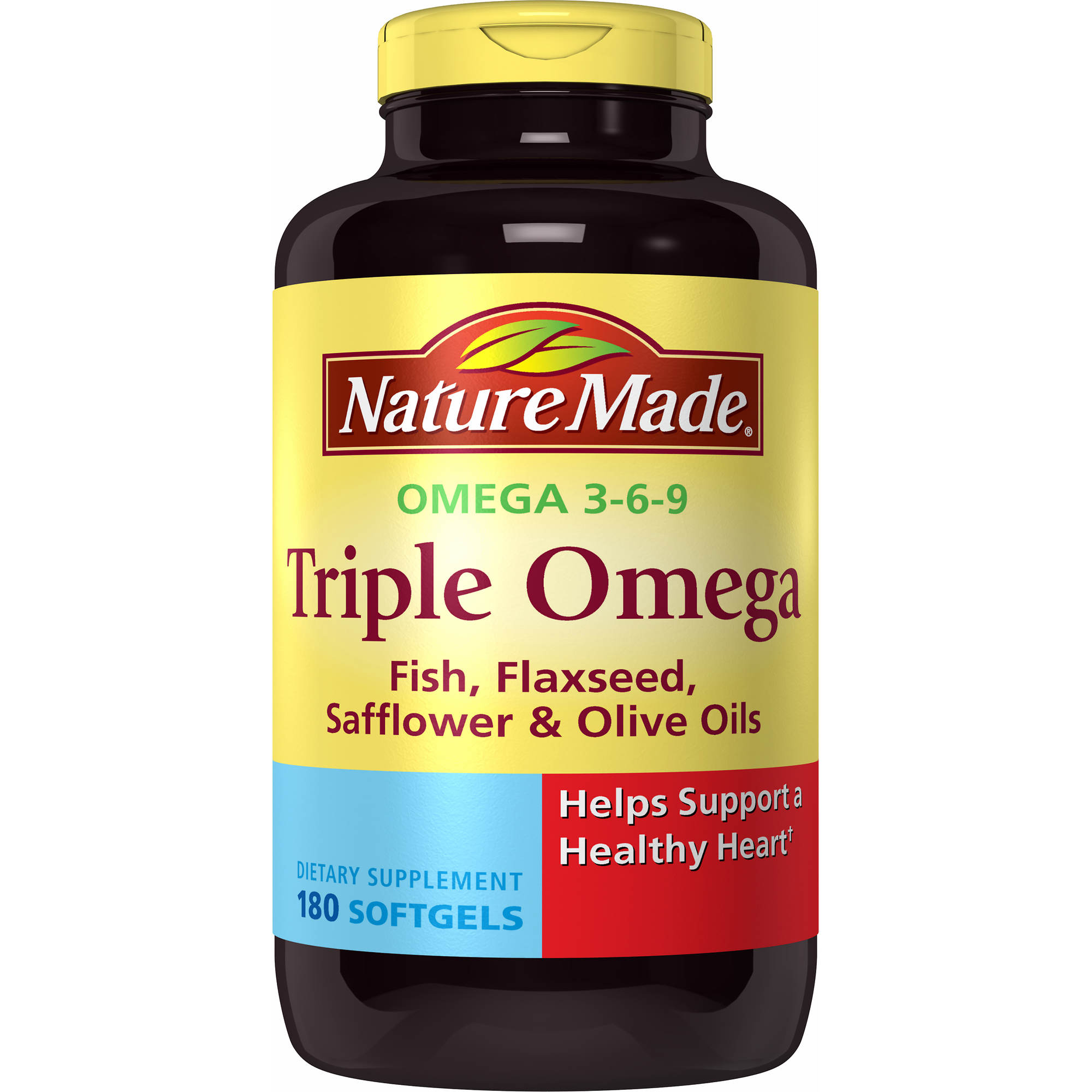 Nature Made Triple Omega 3-6-9 Softgels - 180 Count