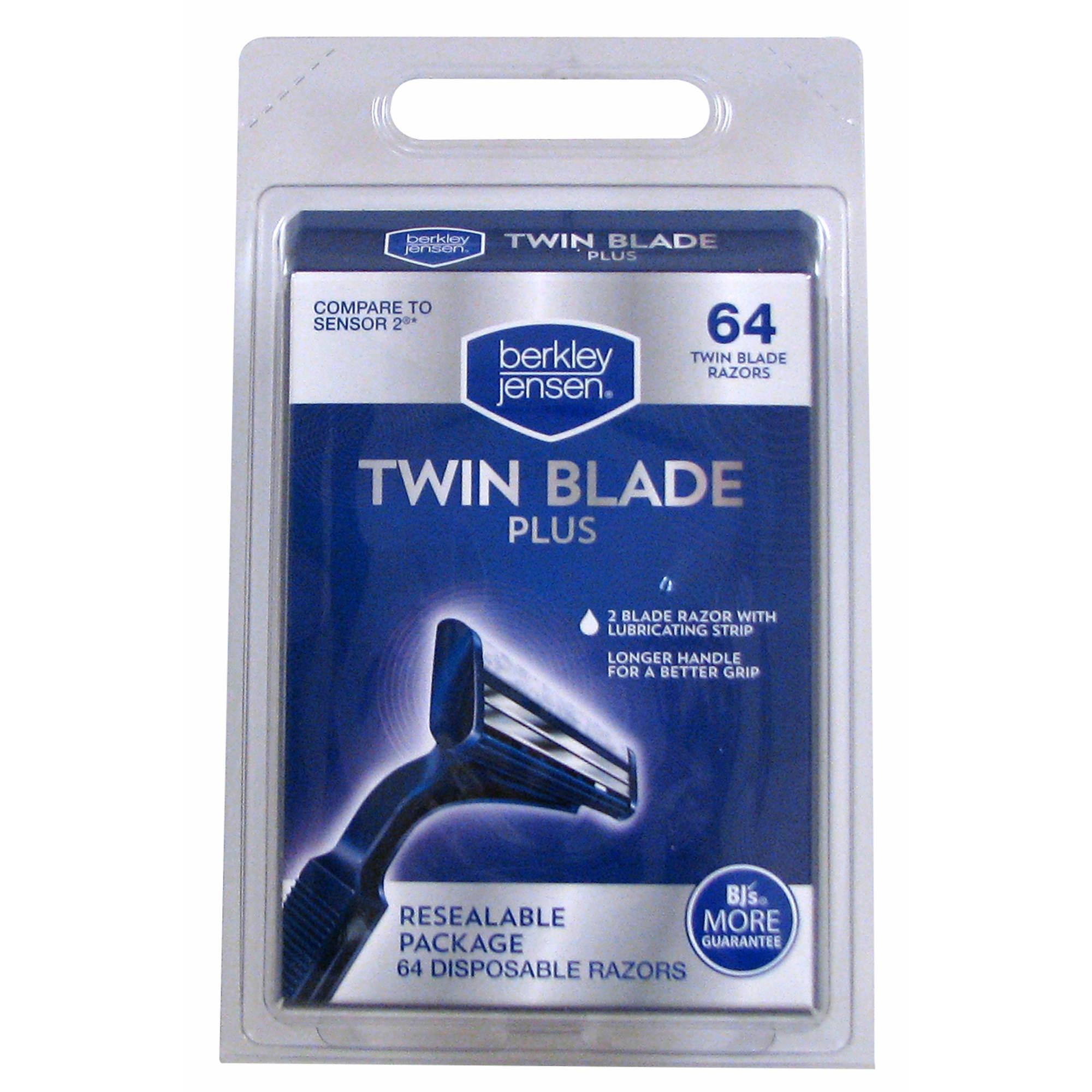 Berkley Jensen Men's Twin-Blade Disposable Razor, 64 ct.