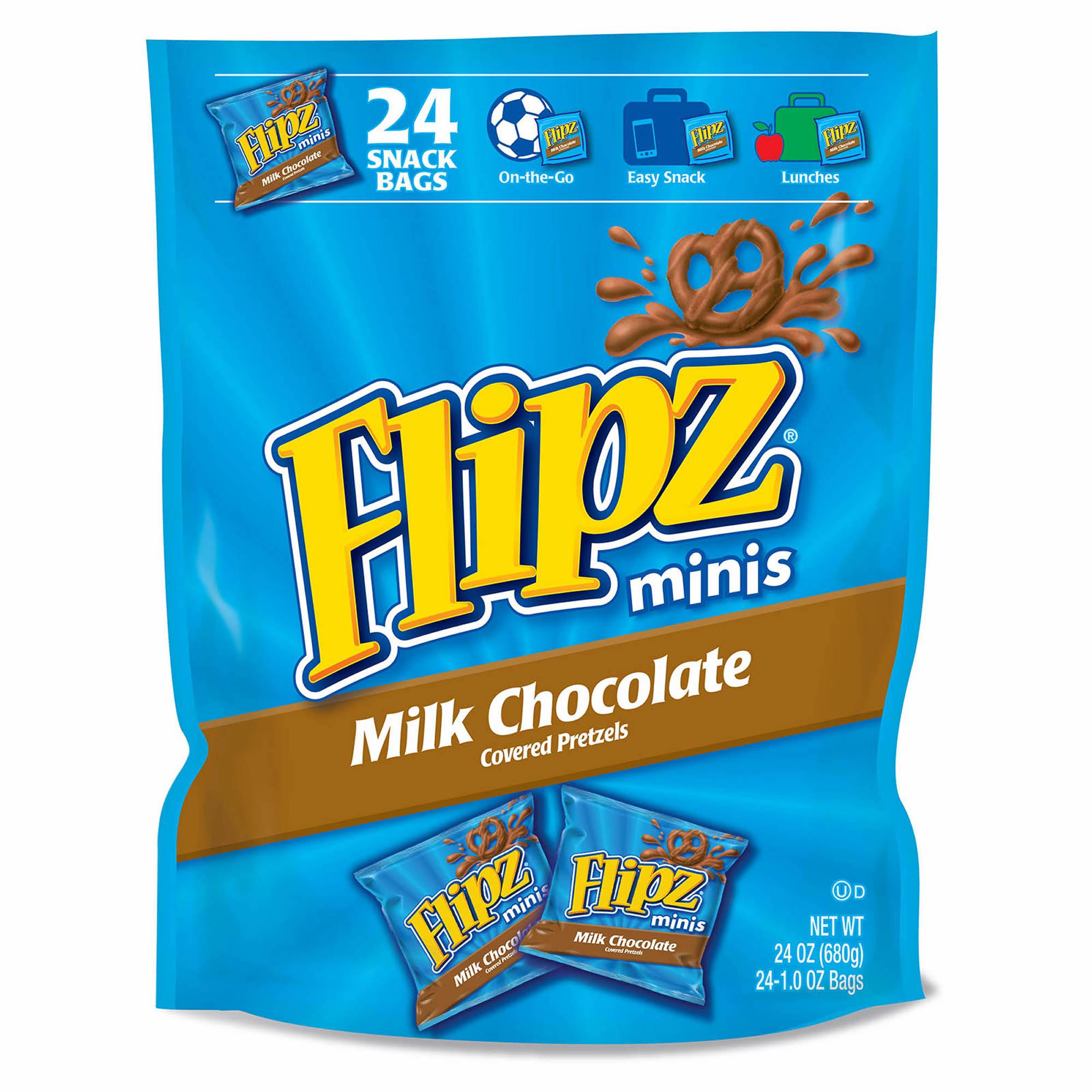 Flipz Milk Chocolate-Covered Pretzels, 24 pk.