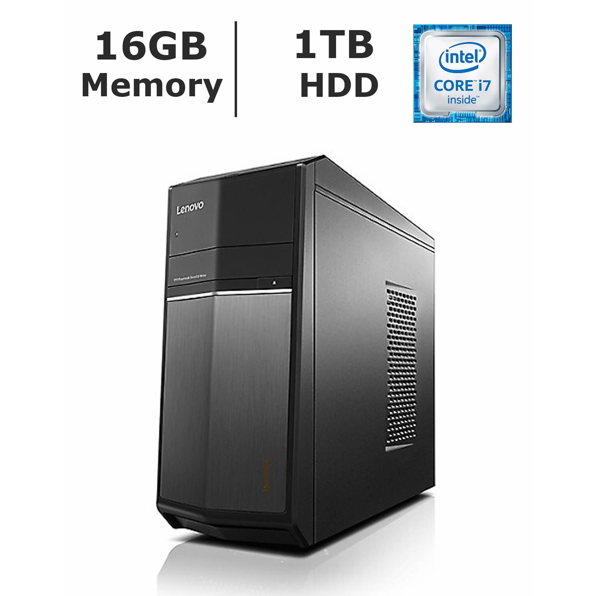 Lenovo IdeaCentre 710 Desktop, Intel Core i7, 16GB Memory, 1TB Hard Drive, 2GB Graphics