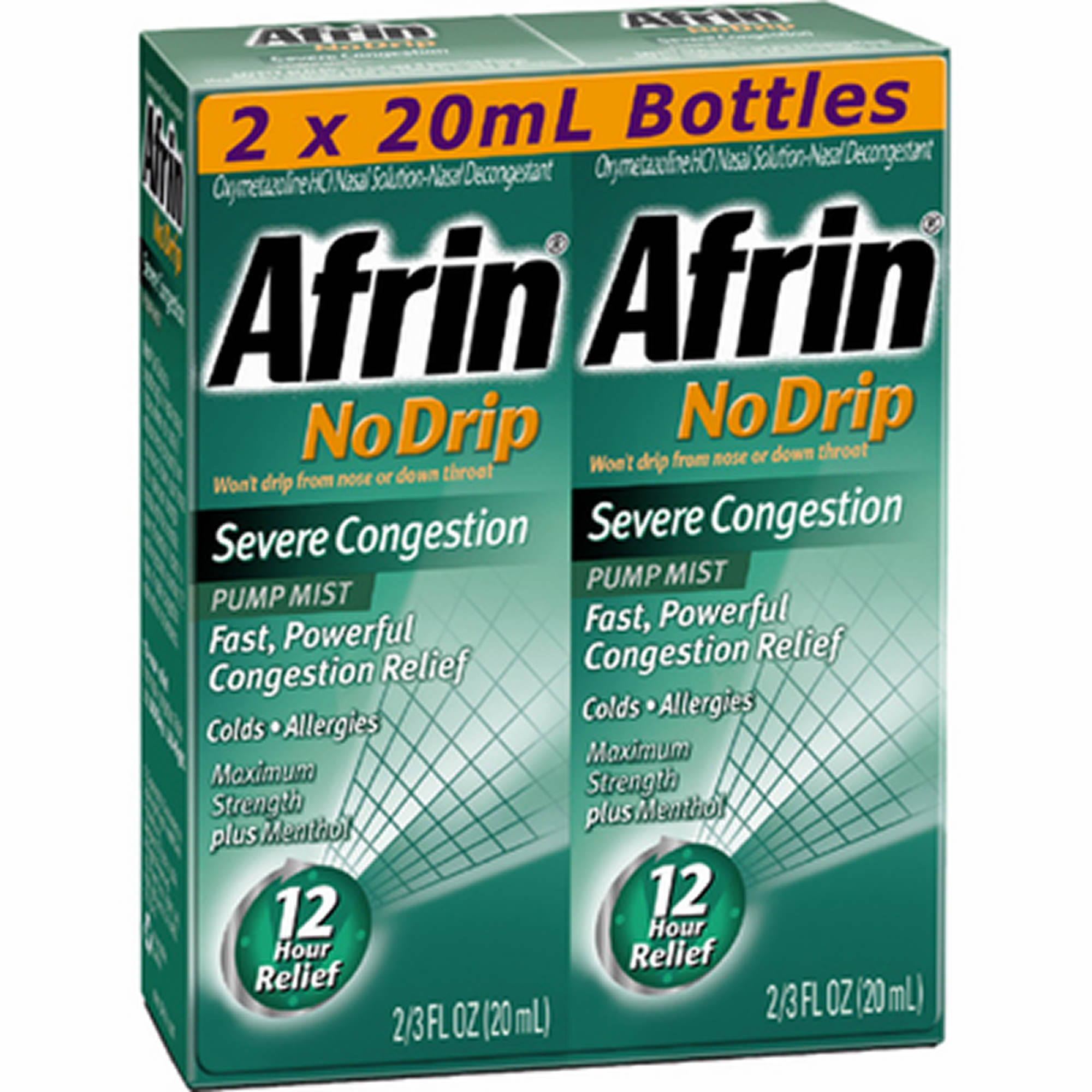 Afrin No Drip Severe Congestion Pump Mist, 2pk./3 fl. oz.