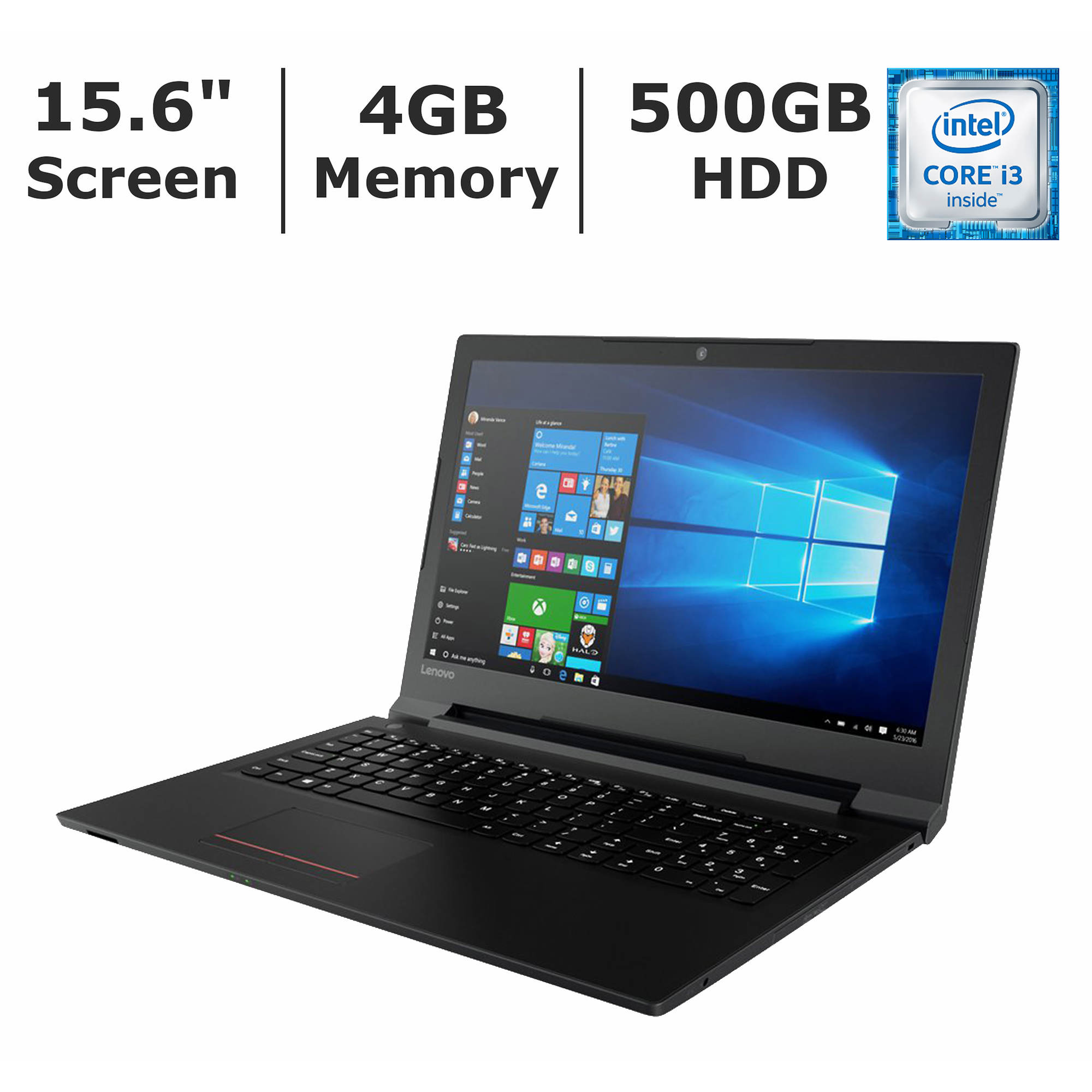Lenovo V110-15ISK Laptop, Intel Core i3-6100U, 4GB Memory, 500GB Hard Drive